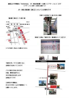 シアターノルンまでの地図(蒲田駅(東口)→ノルン)